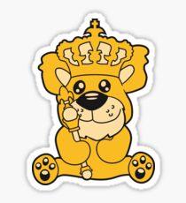 king crown old opa scepter sitting Teddy comic cartoon sweet cute Sticker