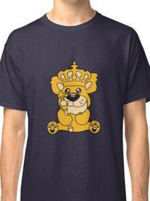 king crown old opa scepter sitting Teddy comic cartoon sweet cute Classic T-Shirt