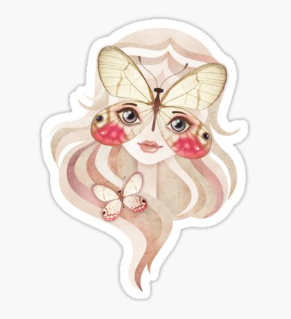 Merolina Moth Girl Sticker