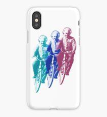 Albert Einstein by bike iPhone Case/Skin
