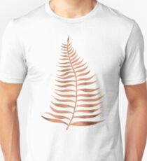 Palm Leaf – Rose Gold Unisex T-Shirt