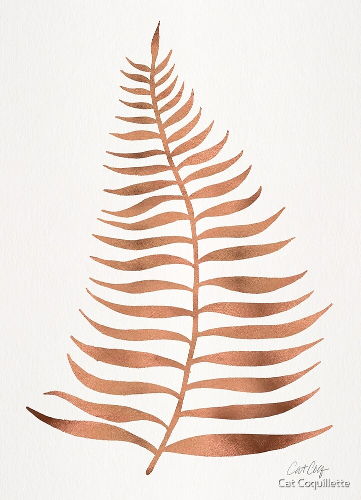 Palm Leaf – Rose Gold by Cat Coquillette
