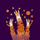 Psychedelic Rabbit Wizards  by SusanSanford