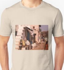 Domestic scene, Badami, Kanartaka, India Unisex T-Shirt
