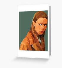 Margot Tenenbaum Low Poly Portrait from the Royal Tenenbaums Greeting Card