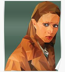 Margot Tenenbaum Low Poly Portrait from the Royal Tenenbaums Poster