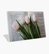 Tulips and Literature Laptop Skin