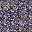 space wars pattern (blue) by geothebio