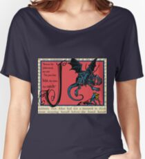 Alice in Wonderland and Through the Looking Glass Alphabet J Women's Relaxed Fit T-Shirt