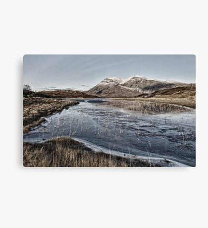 Arkle Mountain in Winter Canvas Print