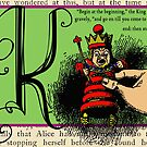 Alice in Wonderland and Through the Looking Glass Alphabet K by Samitha Hess Edwards