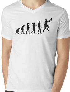 basketball evolution Mens V-Neck T-Shirt