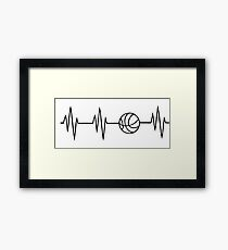 basketball heart beat Framed Print