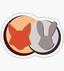 Nick and Judy Logo Design  Sticker