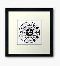 Circle of Fifths Framed Print