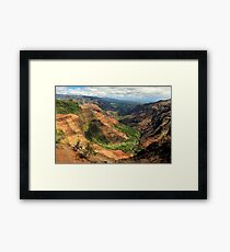Waimea Canyon From The West Framed Print