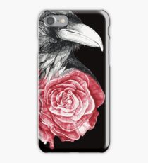 Crow and Rose Flower iPhone Case/Skin