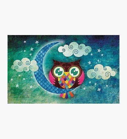 My Crescent Owl Photographic Print