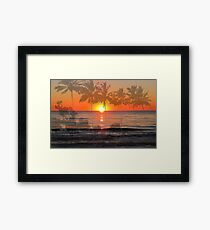 Tropical Spirits - Palm Tree Art By Sharon Cummings Framed Print