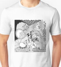 Traditional Zentangle Abstract Art on Canvas Unisex T-Shirt