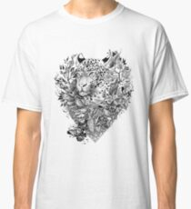 black and white Jungle Leopard Classic T-Shirt