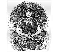 Divine Mother Gea Tree / BW Poster