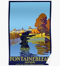 Fontainebleau Avon France Vintage Travel Poster Poster