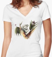Koala Women's Fitted V-Neck T-Shirt