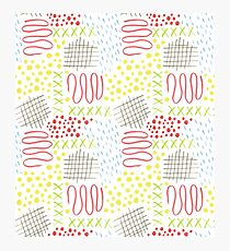 colorful doodle mark pattern Photographic Print