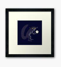 Aye Aye Steals the Moon Framed Print