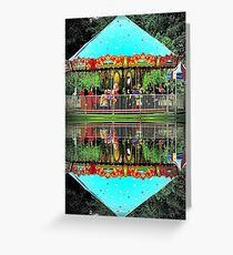 Carousel Reflections Greeting Card