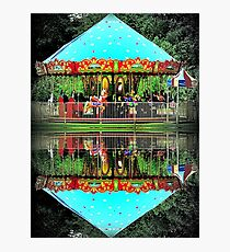 Carousel Reflections Photographic Print
