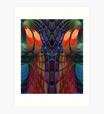 Wizzard threads! Art Print