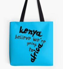 Going to Africa Tote Bag
