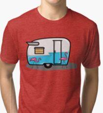 retro blue campers Tri-blend T-Shirt