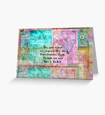 Aristotle EXCELLENCE quote Greeting Card