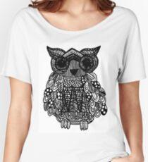 Zentangle Owl Women's Relaxed Fit T-Shirt