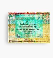 Jane Austen witty LOVE quote  Canvas Print