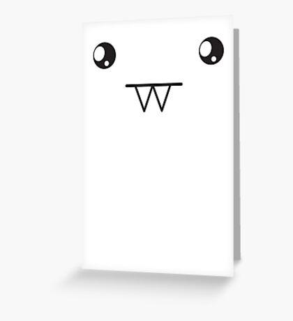 Super cute Kawaii vampite face Greeting Card