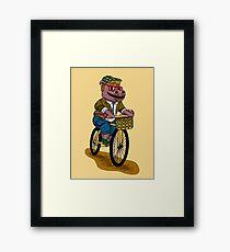 PUN INTENDED - HIPSTERPOTAMUS - HIPSTERS PARODY - FUNNY DESIGN Framed Print