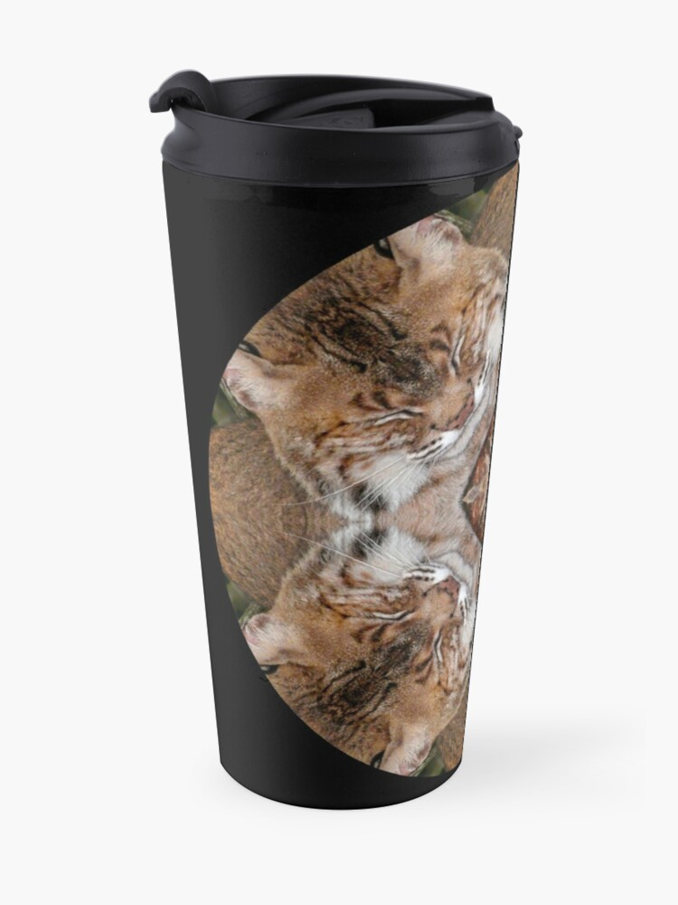 Vista alternativa de Taza de viaje Sleepy Kitty Mandala