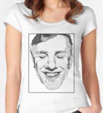 DESCRIPTIVE TEXT PORTRAIT: CHRISTOPH WALTZ Women's Fitted Scoop T-Shirt