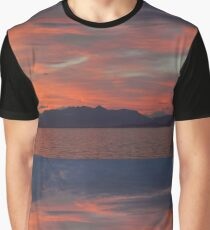 Sunset on the Beagle Channel Graphic T-Shirt