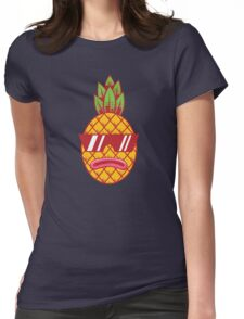 Fresh Pineapple Womens Fitted T-Shirt