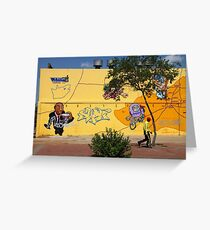 Public Wall Art & Graffiti Greeting Card
