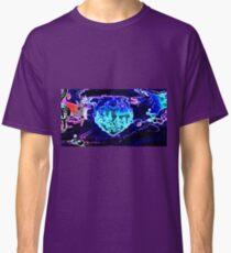 Blue Flaming Heart Classic T-Shirt
