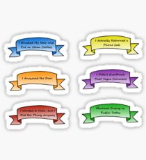 Anxiety Ribbons Sticker