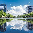 Klyde Warren Park Reflection by josephhaubert