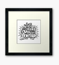 Pinky & Brain Try To take Over The World Framed Print