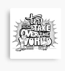 Pinky & Brain Try To take Over The World Canvas Print